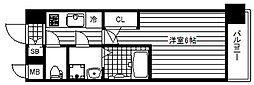 JR大阪環状線 大正駅 徒歩5分の賃貸マンション 3階1Kの間取り