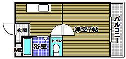 中西マンションII[2階]の間取り