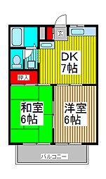 メゾン・ド・中浦和B[1階]の間取り