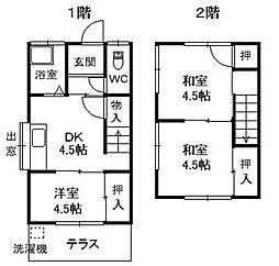 広島県呉市広中迫町の賃貸アパートの間取り
