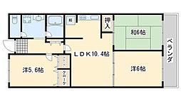 泉佐野スカイハイツ[2階]の間取り