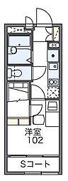 レオパレスフォレスト小倉[2階]の間取り
