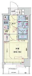 プレサンス THE MOTOYAMA[4階]の間取り