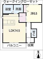 メルモワールK[1階]の間取り