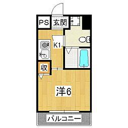サニーハウス[6階]の間取り