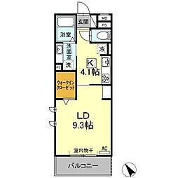 (仮)D−room刈谷市矢場町 B棟[307号室]の間取り