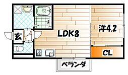 ノースステイツ浅生[4階]の間取り