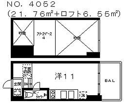 是空天王寺[3階]の間取り