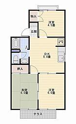 野島パークハイツ[1階]の間取り