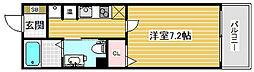 アルファレガロ兵庫[6階]の間取り