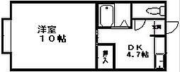 グリーンハイツ石山[1階]の間取り