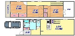 [タウンハウス] 兵庫県神戸市東灘区森南町2丁目 の賃貸【/】の間取り