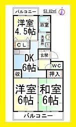田園レジデンス[2階]の間取り
