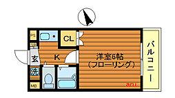 メゾンドクレッセン[3階]の間取り