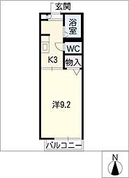 ボナールMATOBA A棟[1階]の間取り