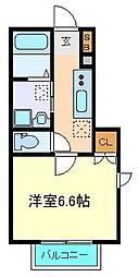 仙台市営南北線 北四番丁駅 徒歩7分の賃貸アパート 1階1Kの間取り