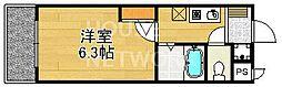 ハイポジション銀閣寺[207号室号室]の間取り