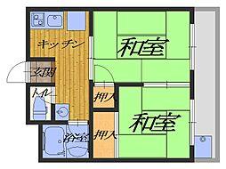メゾン北野田[1階]の間取り