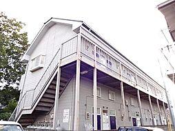 山梨県中巨摩郡昭和町西条新田の賃貸アパートの外観