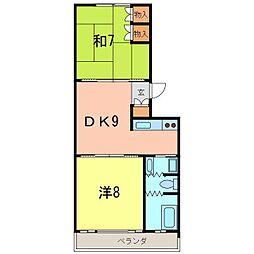 バウハウス[A202号室]の間取り