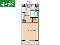 近鉄山田線 伊勢市駅 徒歩9分の賃貸マンション 8階1Kの間取り
