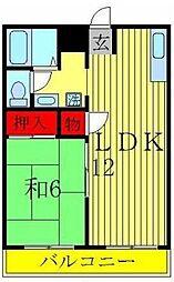 第二パールハイツ[B306号室]の間取り