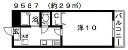 NEWSHILL(ニュースヒル)[301号室号室]の間取り