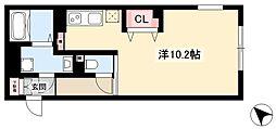 WELLCOURT NAKAMURA-KOUEN 4階ワンルームの間取り