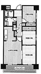 グリーングラス魚崎[1階]の間取り