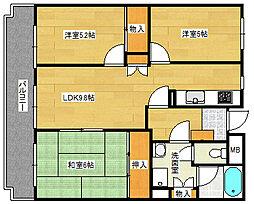 東雲本町パークマンション[502号室]の間取り
