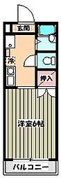ワンカイヨマンション[2階]の間取り