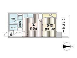 S-RESIDENCE円山表参道 6階1LDKの間取り
