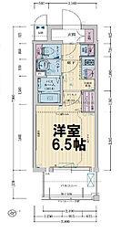 レシオス大阪城公園 9階1Kの間取り