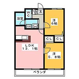 エルファロ[5階]の間取り