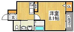 エヌエムトラントウエスト[3階]の間取り