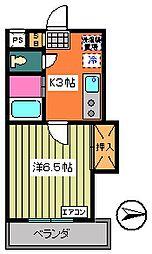 第5サンフラワーマンション[302号室]の間取り