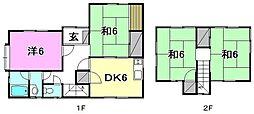 [一戸建] 愛媛県松山市溝辺町 の賃貸【愛媛県 / 松山市】の間取り