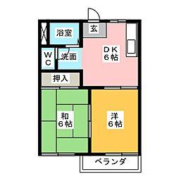 サンライフカモリ2[2階]の間取り