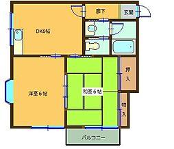 千葉県千葉市中央区松ケ丘町の賃貸アパートの間取り