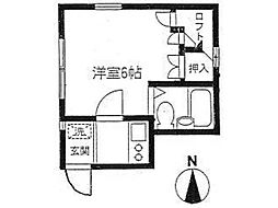 パーク御殿山[2階]の間取り