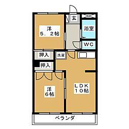 石川マンション[3階]の間取り