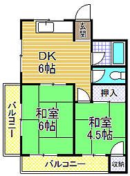 増井マンション[2階]の間取り