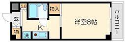 ハイツ篠崎[4階]の間取り