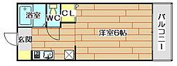 エトワール田中[1階]の間取り