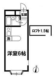 ベルピア津田沼II-1[2階]の間取り
