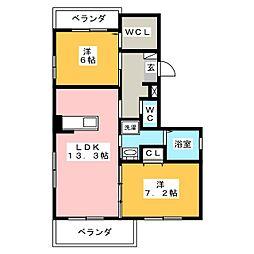横内井越第2ビル[4階]の間取り