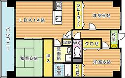 アビタシオンOKI(アビタシオンオキ)[10階]の間取り