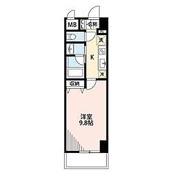 新潟県新潟市中央区笹口1丁目の賃貸マンションの間取り
