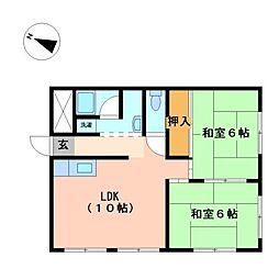 ミノルビル[4階]の間取り