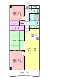 グリーンシャトル2[3階]の間取り